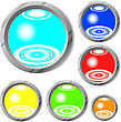 Raster. Glossy Buttons stock photo