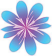 Raster. Stylized Flower stock image