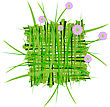 Wreath Raster. Summer Grass Decoration stock photography