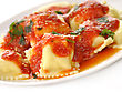 Ravioli Pasta With Red Tomato Sauce stock image