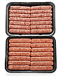Ground Raw Breakfast Sausage Links stock image