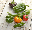 Raw Sweet And Hot Pepper Assortment stock photo