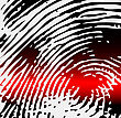 Ray Scanner Scan Fingerprint. Vector Illustration Close-up