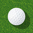 Golf Realistic Golf Ball On The Grass stock illustration