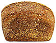 Rectangular Loaf Of Rye Bread, Sprinkled With Crumbs stock photo