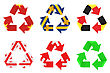 Recycling Symbol With Flags