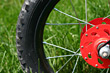Red Bike Tire stock photo