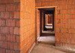 Red Brick Doorways stock photo