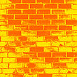 Red Brick Wall Of The House, With Lines Of A Laying Of A Solution. Vector Illustration