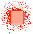 Red Confetti Banner Isolated On White Background. Set Of Particles