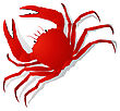 Red Crab, Isolated Objects On White Background stock illustration