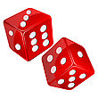Red Dices, Isolated Objects stock illustration