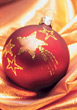 Red & Gold Christmas Glass Ornament stock photography