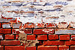Red Grunge Brickwall And Paint stock image