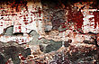 Red Grunge Brickwall Is Dangerous stock photography
