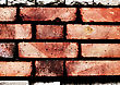 Red Grunge Brickwall Is Dangerous stock photo