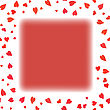 Red Heart Frame On White Background. Symbol Of Valentines Day