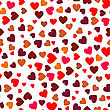 Red Hearts Seamless Pattern. Symbol Of Love
