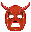 Red Horn Mask Isolated On White Background