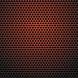 Red Iron Perforated Background. Red Abstract Circle Pattern