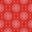 Red Ornamental Seamless Line Pattern. Endless Texture. Oriental Geometric Ornament