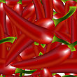 Red Peppers Pattern, Abstract Seamless Texture;  Image Contains Gradient Mesh And Clipping Mask