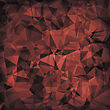 Red Polygonal Background. Red Crystal Triangle Pattern