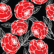 Red Roses Pattern, Abstract Background