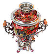 Red Russian Traditional Samovar Isolated stock photo