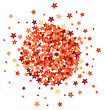 Red Star Burst Isolated On White Background