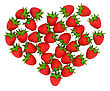 Red Strawberry Shaped Heart Over White. Large Resolution. Other Fruits Are In My Portfolio