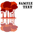 Red Trees Card stock illustration