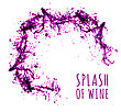 Red Wine Splash. Vector Illsustration On White Background