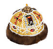 Regal Kings Fur Crown stock image