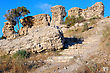 Remnants Of Fortifications That Were Built By The Crusaders In Ashqelon, Israel stock photography
