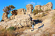 Remnants Of Fortifications That Were Built By The Crusaders In Ashqelon, Israel stock image