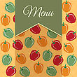 Restaurant Menu Design With Sweet Peppers, Vector Format
