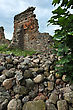 Rests Of A Wall Of The Castle In Krevo, Belarus stock photo