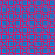 Retro 3D Blue And Pink Diagonally Cut Intersecting Ovals.Abstract Layered Pattern. Bright Colored Background With Realistic Shadow And Thee Dimensional Effect