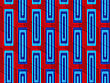 Retro 3D Blue And Red Zigzag Cut With Rectangles.Abstract Layered Pattern. Bright Colored Background With Realistic Shadow And Thee Dimensional Effect