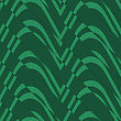 Retro 3D Bulging Green Waves Diagonally Cut.Abstract Layered Pattern. Bright Colored Background With Realistic Shadow And Thee Dimentional Effect