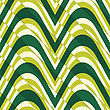 Retro 3D Bulging Light Green Waves Diagonally Cut.Abstract Layered Pattern. Bright Colored Background With Realistic Shadow And Thee Dimentional Effect
