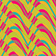Retro 3D Bulging Waves Diagonally Cut.Abstract Layered Pattern. Bright Colored Background With Realistic Shadow And Thee Dimentional Effect