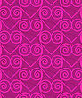 Retro 3D Deep Pink Swirly Hearts.Abstract Layered Pattern. Bright Colored Background With Realistic Shadow And Thee Dimensional Effect
