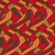 Retro 3D Diagonal Stripes With Red Yellow Green.Abstract Layered Pattern. Bright Colored Background With Realistic Shadow And Thee Dimentional Effect
