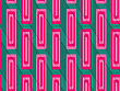 Retro 3D Green And Pink Diagonally Cut With Rectangles.Abstract Layered Pattern. Bright Colored Background With Realistic Shadow And Thee Dimensional Effect