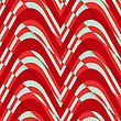 Retro 3D Red Green Diagonal Cut Waves.Abstract Layered Pattern. Bright Colored Background With Realistic Shadow And Thee Dimentional Effect