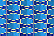 Retro Fold Blue With Bows.Abstract Geometrical Ornament. Pattern With Effect Of Folded Paper With Realistic Shadow. Vintage Colored Simple Shapes On Textured Background