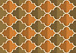 Retro Fold Brownish Marrakesh.Abstract Geometrical Ornament. Pattern With Effect Of Folded Paper With Realistic Shadow. Vintage Colored Simple Shapes On Textured Background