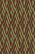 Retro Fold Green And Brown Striped Diamonds.Abstract Geometrical Ornament. Pattern With Effect Of Folded Paper With Realistic Shadow. Vintage Colored Simple Shapes On Textured Background